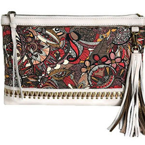 Sakroots Artist Circle -Ruby Clutch Crossbody